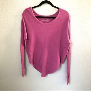 Free People Mauve Long Sleeve Thermal Top